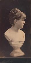 Female Portrait Bust on Pedestal, 1890s.