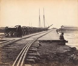 Ordnance Wharf, City Point, Virginia, 1865.
