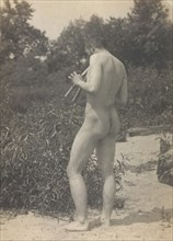 Thomas Eakins, Nude, Playing Pipes, ca. 1883.