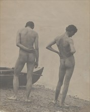 Thomas Eakins and John Laurie Wallace on a Beach, ca. 1883.