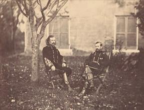 Major General Pleasanton and General Custer, 1863.