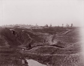 The Crater, Petersburg, 1864. Formerly attributed to Mathew B. Brady.