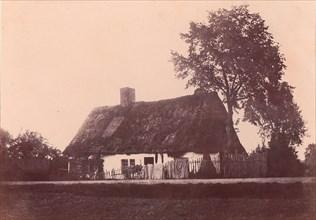 Maison au toit de chaume, 1850-53.