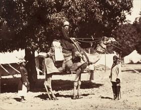 J.C.S. on a Riding Camel, 1858-61.