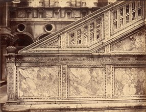 Marble Stairway Decorated with Architectural Sculpture, 1880s.
