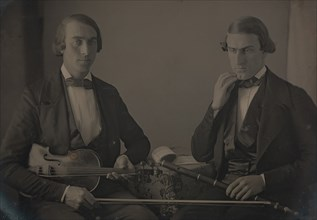 Violinist and Flute Player, ca. 1847.