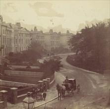 Carriage on Street in Residential Neighborhood, London, 1860s.
