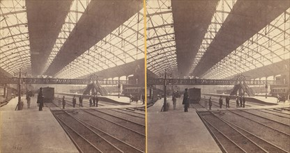 Group of 6 Early Stereograph Views of Birmingham, England, 1860s-80s.