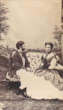 Couple on a Settee, 1860s.