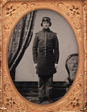 Union Officer Standing at Attention, 1861-65.