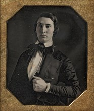 Young Man Holding Jacket Lapel, 1840s.