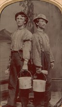 Two Painters with Brushes and Buckets, 1874.