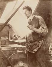 Portrait d'un graveur, 1860s-70s.