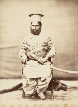 Eastern Man with Beard and Sabre, 1860s.