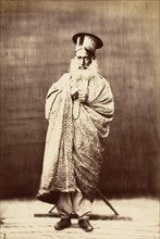 Eastern Man with White Beard, Standing, 1860s.