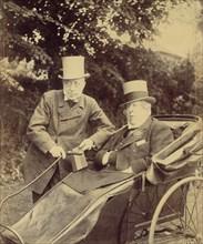 Two Gentlemen, One in Cart, 1860s-70s.