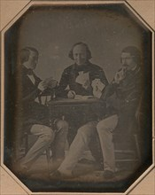Three Men Playing Cards, March, 1842.