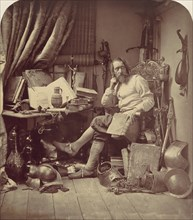 Don Quixote in His Study, 1857.