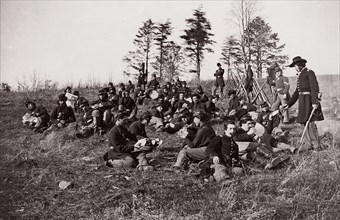 Co. B, 170th New York Volunteers, ca. 1861. Formerly attributed to Mathew B. Brady.