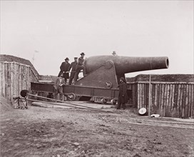 Battery Rodgers, Potomac River near Washington, 1861-65. Formerly attributed to Mathew B. Brady.