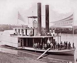 """U.S. Transport """"Wauhatchie"""", 1861-65. Formerly attributed to Mathew B. Brady."""