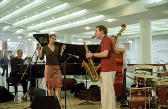 Stacey Kent, Royal Festival Hall Foyer, London, 3 June 2005. Creator: Brian O'Connor.