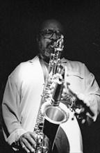 James Moody, Ronnie Scott's Jazz Club, Soho, London, April 1990. Creator: Brian O'Connor.