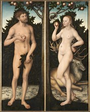Adam and Eve. Creator: Cranach, Lucas, the Elder (1472-1553).