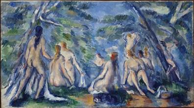 Bathers, ca 1895-1896. Creator: Cézanne, Paul (1839-1906).