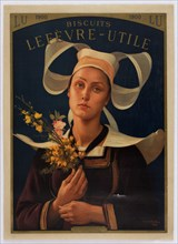 Biscuits Lefevre-Utile, 1900. Creator: Berteaux, Hippolyte (1843-1926).