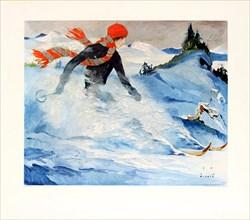 Christiania skiing, 1930s. Creator: Wiertz, Jupp (1888-1939).