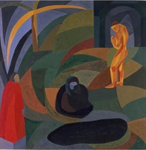 Composition with three figures, 1911-1941. Creator: Freundlich, Otto (1878-1943).