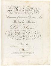 Cover of the score Le nozze di Figaro dramma giocoso in quattro atti, Between 1806 and 1810. Creator: Mozart, Wolfgang Amadeus (1756-1791).