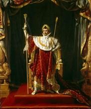 Emperor Napoleon I in His Imperial Robes, 1805. Creator: David, Jacques Louis (1748-1825).
