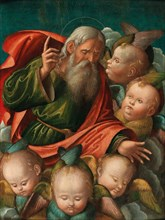 God the Father, surrounded by angels, 1510s. Creator: Carrari, Baldassarre, the Younger (c. 1460-1516).