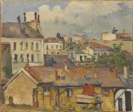 Groupe de maisons (Les Toits), 1876-1877. Creator: Cézanne, Paul (1839-1906).
