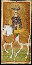 Knight of Cups. Tarot card, 1441-1444. Creator: Bembo, Bonifacio (c. 1420-c. 1480).