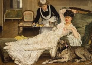 La belle fille, 1902. Creator: Caro-Delvaille, Henry (1876-1928).