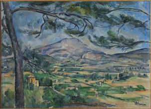 La Montagne Sainte-Victoire au grand pin (Mount Sainte-Victoire with Large Pine), ca 1887. Creator: Cézanne, Paul (1839-1906).