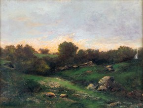 Landscape at Barbizon, First half of the 19th cent.. Creator: Daubigny, Charles-François (1817-1878).
