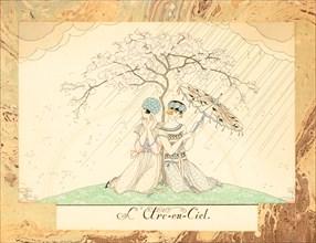 L'Arc-en-Ciel (The Rainbow), from Le Bonheur du Jour ou, Les Graces à la Mode, 1924. Creator: Barbier, George (1882-1932).