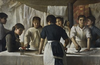 Laundresses, 1882. Creator: Petiet, Marie (1854-1893).