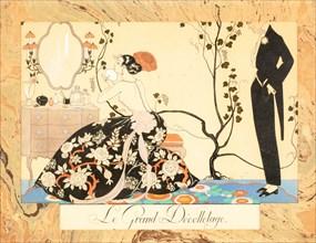 Le Grand Décolletage, from Le Bonheur du Jour ou, Les Graces à la Mode, 1924. Creator: Barbier, George (1882-1932).