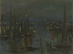 Le Port du Havre, Effet de Nuit (The port of Le Havre at night), 1873. Creator: Monet, Claude (1840-1926).