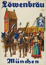 Löwenbräu München, c. 1925. Creator: Suchodolski, Siegmund von (1875-1935).