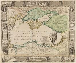 Map of the Black Sea and the Crimea, c. 1740. Creator: Haupt, Gottfried Jacob (1715-1766).