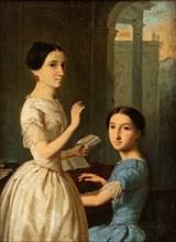 Maria and Ekaterina Novosiltseva. Creator: Belloli, Andrei (1820-1881).