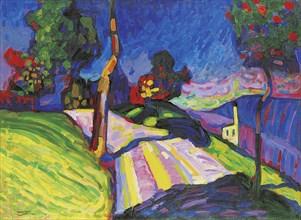 Murnau, Kohlgruberstraße, 1908. Creator: Kandinsky, Wassily Vasilyevich (1866-1944).