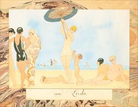 On the Lido, from Le Bonheur du Jour ou, Les Graces à la Mode, 1924. Creator: Barbier, George (1882-1932).