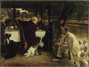 Parable of the prodigal Son: The Fatted Calf, 1880. Creator: Tissot, James Jacques Joseph (1836-1902).